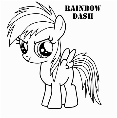 rainbow dash coloring coloring pages