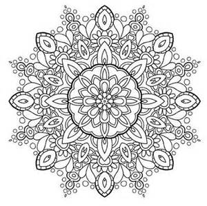 Adult Stress Relief Mandala Coloring Pages