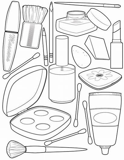 Coloring Makeup Pages Awesome