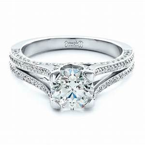 Custom split shank engagement ring 1440 for Split shank engagement ring with wedding band