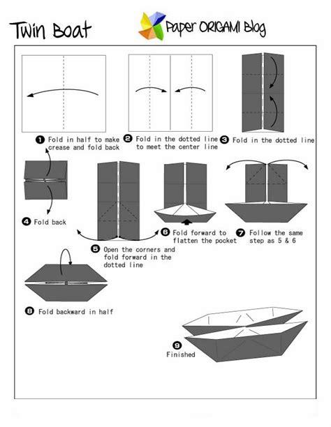 Origami Twin Boat Video by Fun Origami Twin Boat Paper Origami Guide