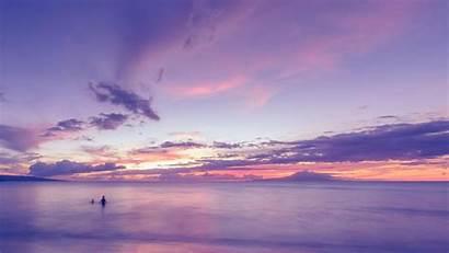 Ocean Purple Sunset Beach Clouds Pink Wallpapers