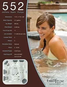 Bullfrog Spas Hot Tub Model 552