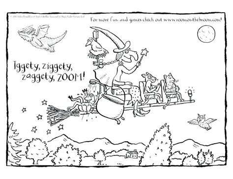 Room On The Broom Coloring Pages Room On The Broom