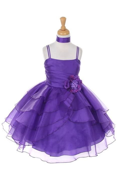 royal blue girls pageant party dress