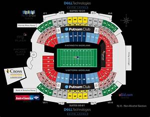 The Amazing Gillette Stadium Seating Chart In 2020