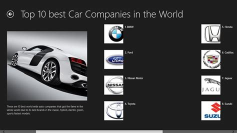 Top 10 Best Car Companies For Windows 8 And 8.1