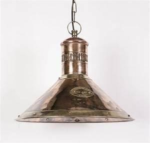 Deck solid copper and brass light pendant from richard