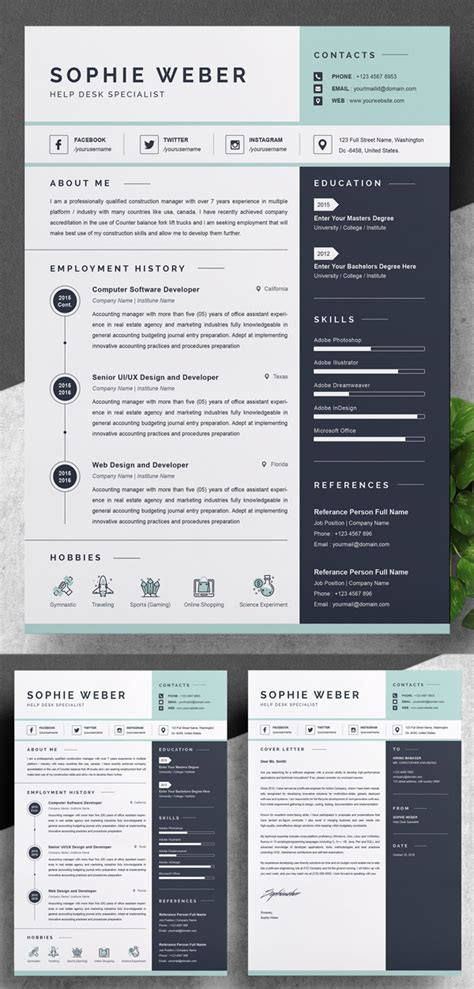 Colorful Resume Templates by Resume Templates Design Design Graphic Design Junction
