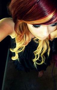 burgundy hair with blonde highlights - Google Search ...