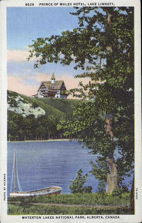 postcard  hileman waterton lakes national park