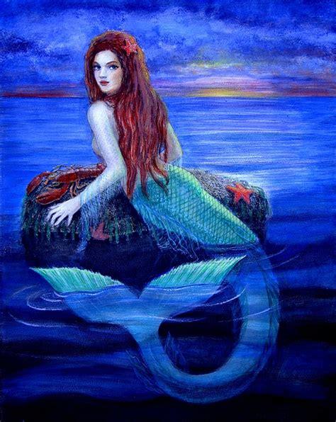 mermaid 39 s dinner painting by sue halstenberg