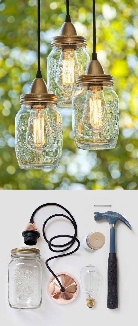 jar hanging lights diy