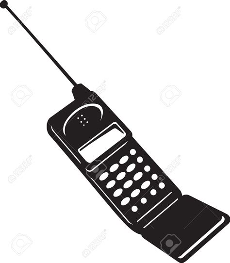 flip phone clipart black and white mobile phone clipart black and white clipartxtras