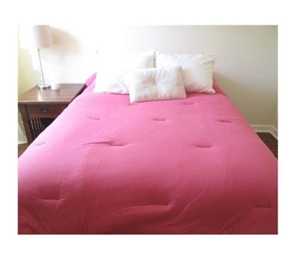 jersey knit twin xl college comforter  cotton pink