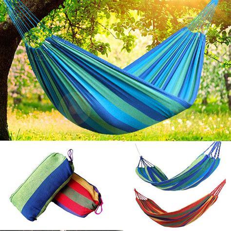Portable Cotton Rope Hanging Tree Hammock Outdoor Swing