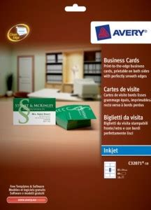 business cards  inkjet printers    mm