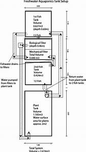 Diagram Of The Fresh Water Floating Raft Aquaponics System