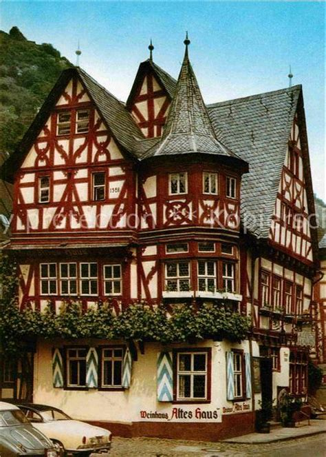 Ak  Ansichtskarte Bacharach Rhein Weinhaus Altes Haus