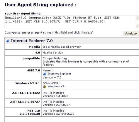 agent user string