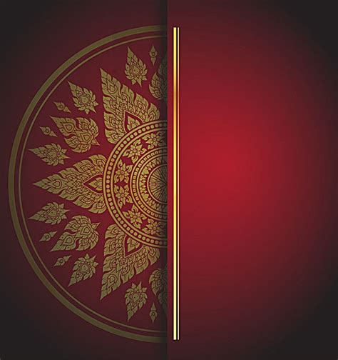 red chinese wind pattern invitation background material