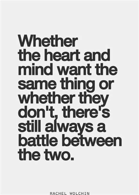 Mind Heart Conflict Quotes