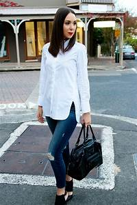 What looks good with Jeans? A White Shirt and Heels thatu0026#39;s ...