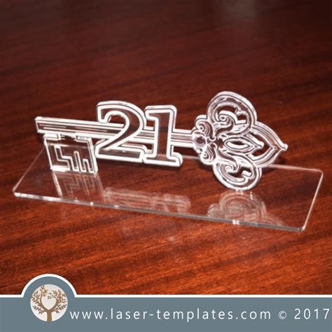 st birthday key template laser cut  store laser