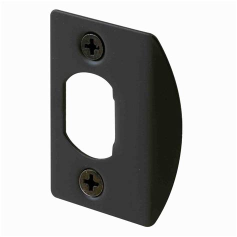 door strike plate prime line bronze standard latch strike plates 2 pack e