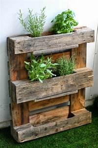 fabriquer une jardiniere verticale en palette tutos et With brise vue avec jardiniere 9 transformer une palette en bois en jardiniare deco