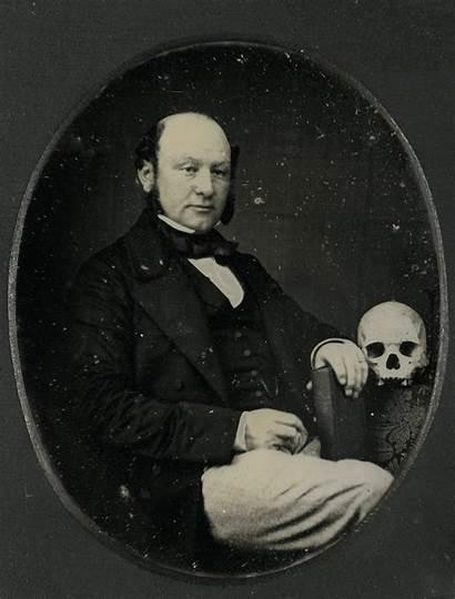 Daguerreotype Portrait Unidentified Animated Chubachus Stereoscopic Skull