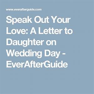 letter to daughter on wedding day ideas and samples With letter to daughter on wedding day