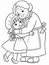 Coloring Embroidery Hag Snow sketch template