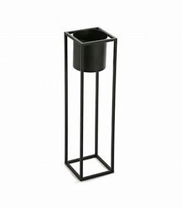 Cache Pot Noir : cache pot sur pied en m tal noir hauteur 60cm ~ Teatrodelosmanantiales.com Idées de Décoration