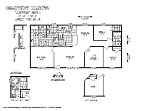 14x40 Mobile Home Floor Plans by 12x32 Cabin Floor Plans