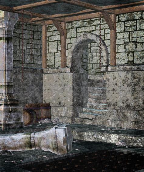gothic dungeon  stock illustration illustration