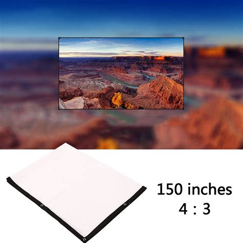 amzdeal Portable 150 inch 4:3 Projector White Projection