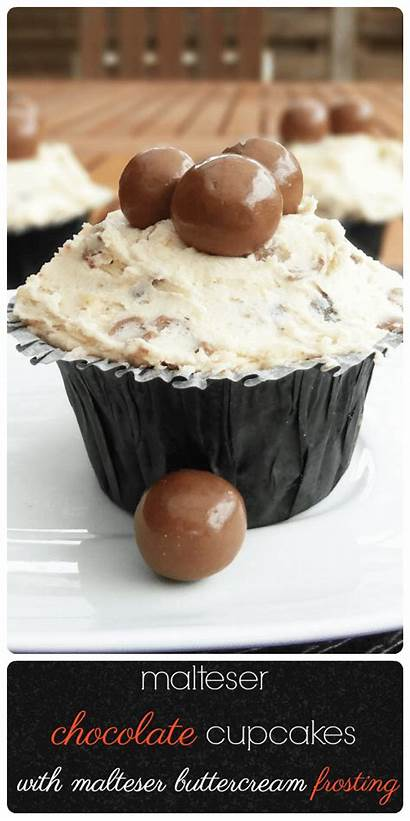Malteser Recipe Buttercream Cupcakes Chocolate Frosting Theculinaryjumble