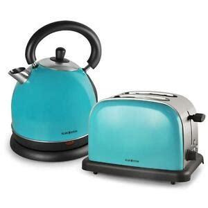 wasserkocher toaster set retro fr 220 hst 220 cks set 2 scheiben toaster wasserkocher edelstahl design retro t 220 rkis top ebay