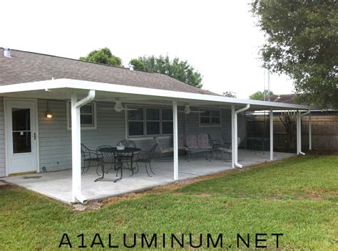 aluminum patio cover with flat pan in pasadena tx 187 a 1