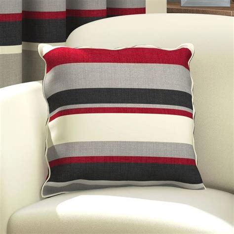 Red & Black Striped Cushion Cover   Tonys Textiles