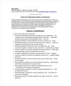 Welder Resumes Exles by Welder Resume Sle Resume Cv Cover Letter