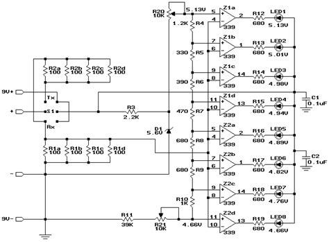 Build Analog Bar Graph Expanded Scale Voltmeter