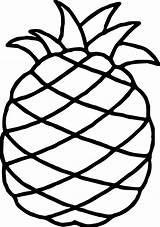 Pineapple Coloring Hawaiian Wecoloringpage sketch template