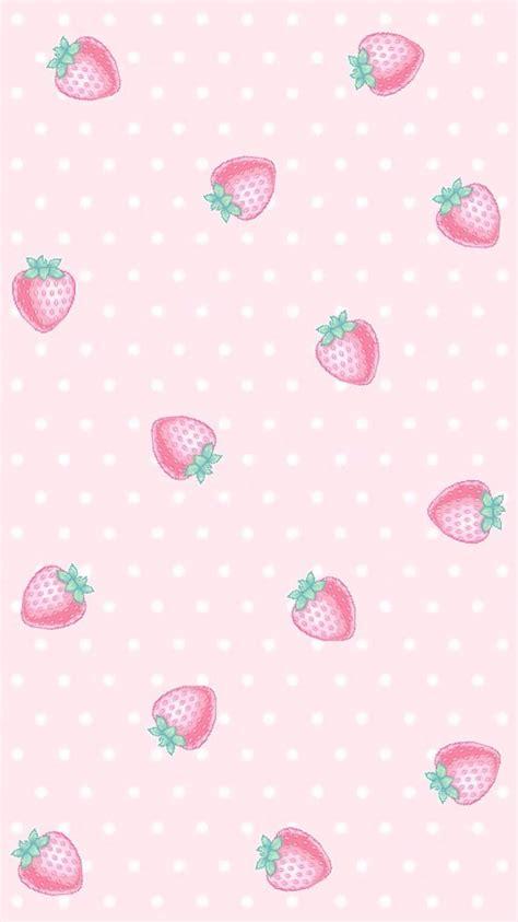 strawberry wallpapers cute pastel wallpaper pastel