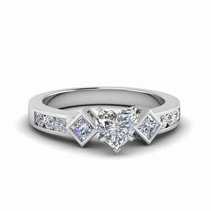 Shop for unique heart shaped engagement rings fascinating for Wedding rings to go with solitaire engagement ring