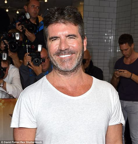 timothy simons beard simon cowell sports a new scruffy beard at x factor launch