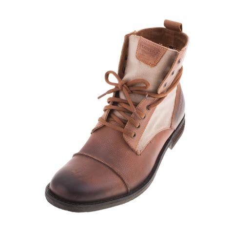 light brown boots mens levis 220905 mens gents light brown boot ebay