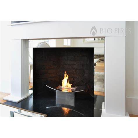 Fireplace Accent Wall Ideas by Zen Bio Fireplace In Mirrored Finish Bio Fires Gel