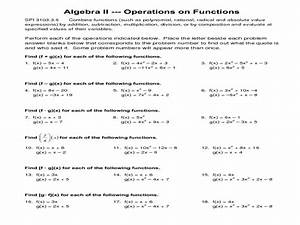 Worksheet 94a Function Operations Answers